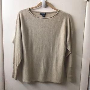 Lord and Taylor tan extra fine merino wool